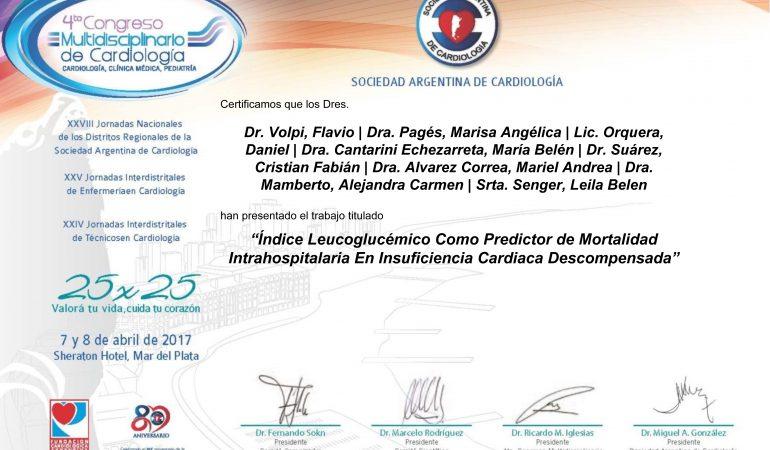 Residentes del Sanatorio Colegiales presentaron investigaciones en el Congreso Multidisciplinario de Cardiología